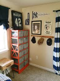 baseball themed kids room