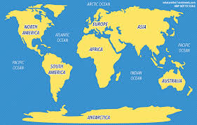 map continents 5 oceans of the world the 7 continents of the world