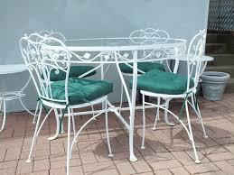 salterini 42 wrought iron patio table chairs ny usa garden