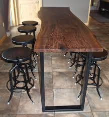 Reclaimed Wood Bar Table Live Edge Walnut Bar Height Table