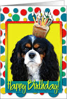 birthday cards with cavalier king charles spaniels from