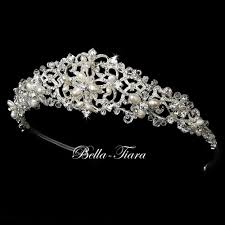tiara collection italian collection floral swarovski communion crown