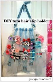 hair clip holder diy tutu hair clip holder green