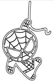 big printable pictures to color with baby spiderman coloring pages