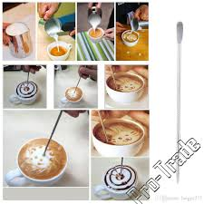 best quality new cappuccino coffee tools hook fancy stitch coffee
