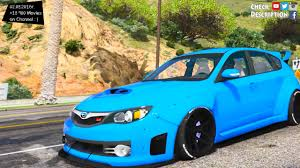 subaru rsti widebody 2008 subaru wrx widebody gta v mod 2 7k 1440p youtube