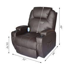 homcom pu leather rocking sofa chair recliner homcom massage heated pu leather 360 degree swivel recliner chair
