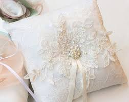 wedding pillow rings wedding ring pillow etsy