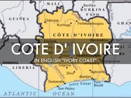 Ivory Coast Map Cote D U0027 Ivoire By Sarah Chai
