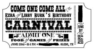free printable carnival ticket templates