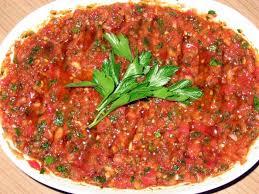 la cuisine turque ezme salade de tomates écrasées turcculina la cuisine turque