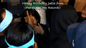 black and turquoise jeep the turquoise jeep gang singing happy birthday to joelle youtube