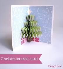 christmas tree pop up card twiggynest