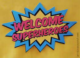 welcome superheroes speech room style