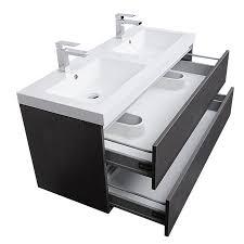 Bathroom Vanity 48 by Buy Valencia 47 Inch Wall Mount Double Bathroom Vanity Set Grey