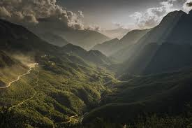nature landscape forest mountain sun rays wallpapers hd