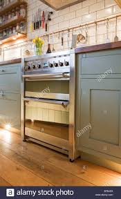 modern kitchen oven smeg oven in a contemporary modern kitchen stock photo royalty