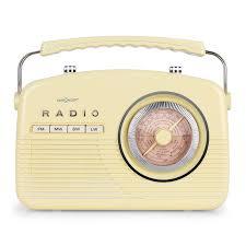 radio pour cuisine oneconcept nr 12 radio cuisine rétro fifties fm am crème cliquer