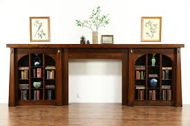 sold arts u0026 crafts antique fireplace mantel u0026 bookshelves