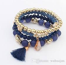 bracelet bead sets images Fashion women bracelet bohemia style 4 rows sets bracelets girls jpg