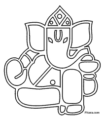 lord ganesha coloring pages pitara kids network
