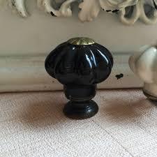 black ceramic cabinet knobs 8pcs 25mm black ceramic cabinet knobs pumpkin shape cupboard closet