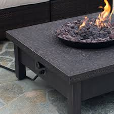 Ember Table Red Ember Livingston 35 In Square Gas Fire Pit Table Hayneedle