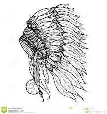 doodle indian doodle headdress for indian chief stock vector image 58414730