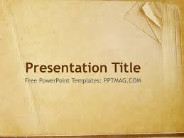 free old book paper powerpoint template pptmag