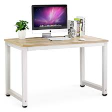 Modern Office Table With Glass Top Amazon Com Tribesigns Computer Desk 47
