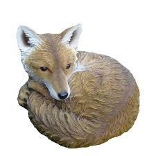 sleeping fox garden ornament