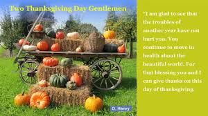 two thanksgiving day gentlemen by o henry