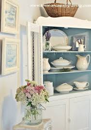 take a tour of my cottage style farmhouse dining hutch corner