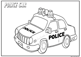 friend picture police coloring book