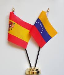 Venezual Flag Spain State And Venezuela 8 Stars Federal Friendship Table Flag