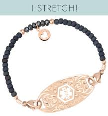 bracelet rose gold images Joy stretch medical id bracelet lauren 39 s hope jpg