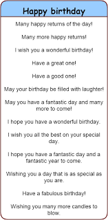 is other ways to say happy birthday