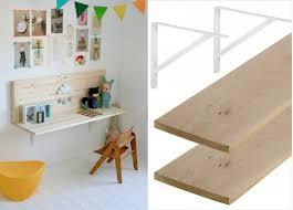 fabriquer bureau enfant etagere pour chambre bebe etagere murale chambre enfant tagre