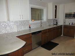 pearl mosaic tile kitchen transitional with mother of pearl