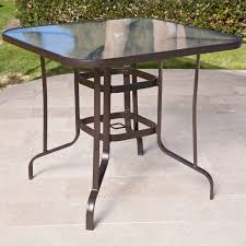 Drop Leaf Patio Table 40 Inch Outdoor Patio Dining Table With Glass Top And Umbrella