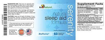 5 Htp Before Bed Serenity Natural Sleep Aid 60 Vegetarian Capsules Pure Formula