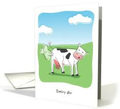 Cow Birthday Card This Funny Birthday Greeting Card Pun Features A Cow Lifting A Leg