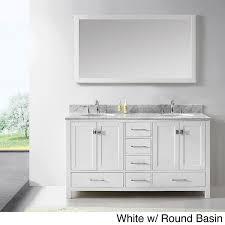 46 Inch Bathroom Vanity Virtu Usa Caroline Avenue 60 Inch Double White Marble Sink