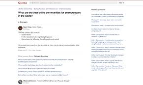 Best Resume Builder Quora by The Top Online Communities For Entrepreneurs Marketers Designers