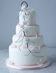 collections falling blossom wedding cake assorted available to ord