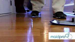 Removing Wax Buildup From Laminate Floors Maidpro Shows You How To Properly Clean Your Hardwood Floors Youtube