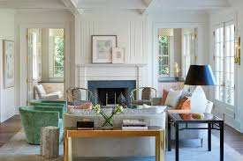 Green Chairs For Living Room Dove Gray Fireplace Mantle With Black Herringbone Firebox