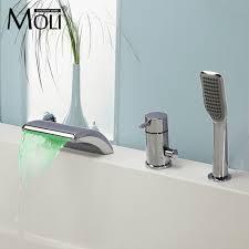 Online Get Cheap German Faucet Aliexpress Com Alibaba Group Bathtub Mixer Temperature Controlled Bathtub Faucet Led Light