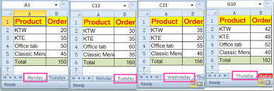 how to reference same cell from multiple worksheets in excel