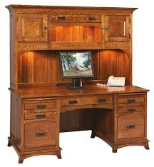 Executive Desk With Hutch Mt Eaton Mission Executive Desk With Hutch Top